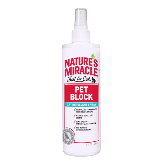 Nature's Miracle Pet Block Repellent Spray Just for Cat 8 Oz