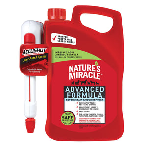 Nature's Miracle Advanced Stain & Odor Eliminator Accushot for Dog 170 Oz