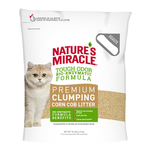 Nature's Miracle Premium Clumping Corn Cob Cat Litter 10 Lbs