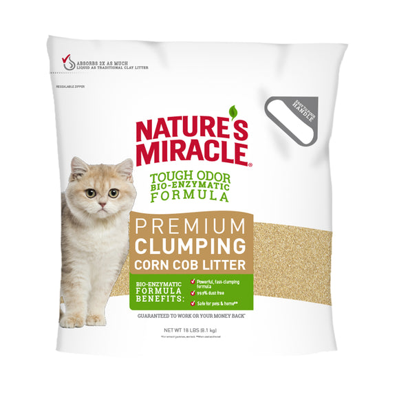 Nature's Miracle Premium Clumping Corn Cob Cat Litter 18 Lbs