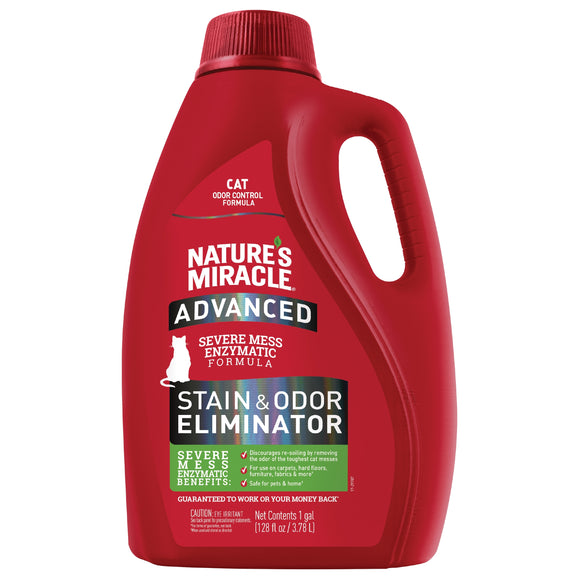 Nature's Miracle Advanced Stain & Odor Eliminator for Cat 1 Gal