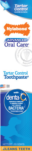 Nylabone Advanced Oral Care Tartar Control Toothpaste for Dog 2.5 Oz