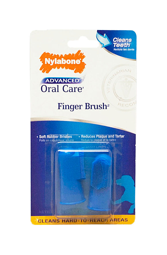 Nylabone Advanced Oral Care Finger Brush for Dog 2 Count