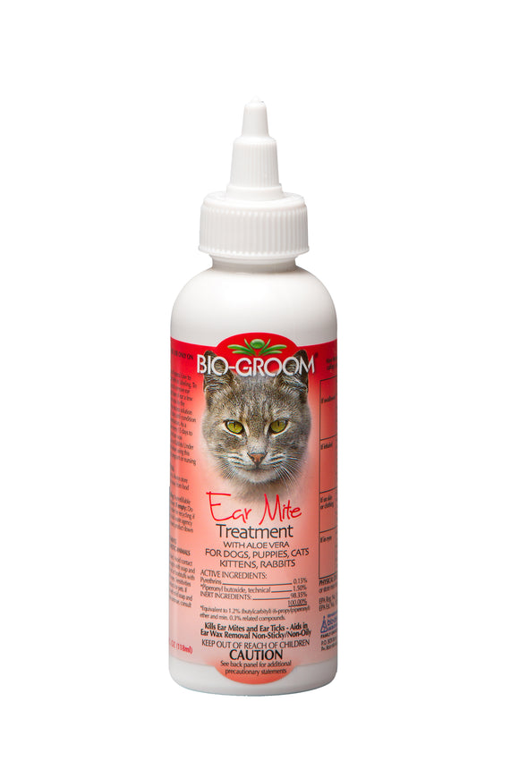 Bio-Groom Ear Mite Treatsment with Soothing Aloe Vera for Dog 4 Oz