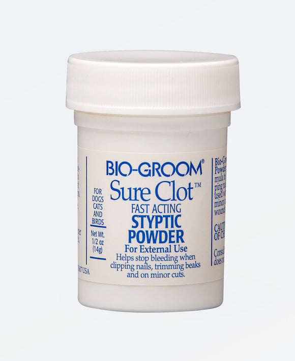 Bio-Groom Sure Clot Fast Acting Styptic Powder for Dog 0.5 Oz