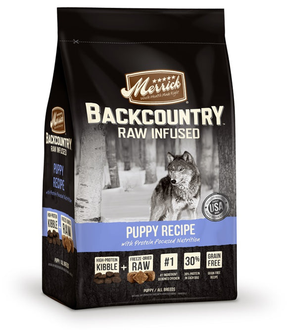 Merrick Backcountry Raw Infused Puppy Recipe Dog Food 22 Lbs