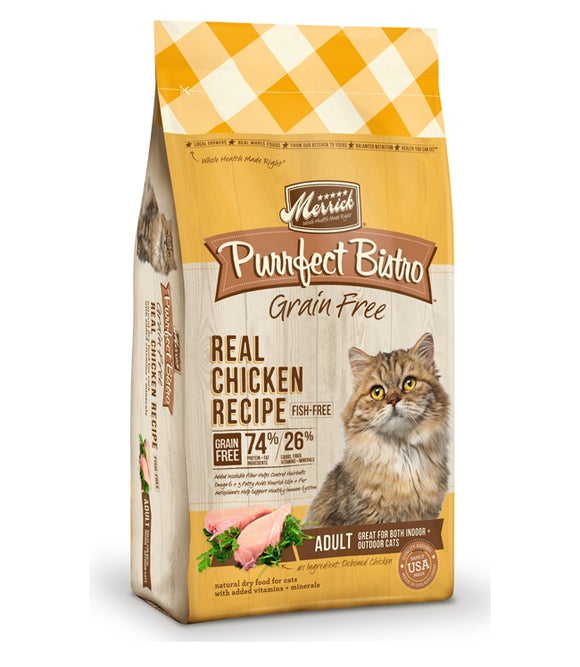 Merrick Purrfect Bistro Grain Free Real Chicken Recipe Cat Food 4 lbs