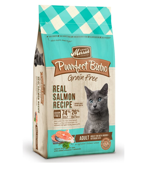 Merrick Purrfect Bistro Grain Free Real Salmon Recipe Cat Food 7 Lbs