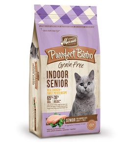Merrick Purrfect Bistro Grain Free Indoor Senior Real Chicken & Sweet Potato Recipe Cat Food 7 Lbs