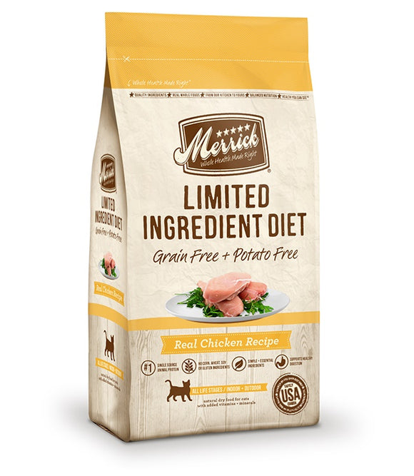 Merrick Limited Ingredient Diet Grain Free Real Chicken Recipe Cat Food 12 Lbs