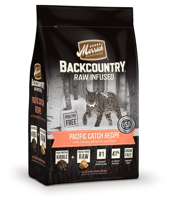 Merrick Backcountry Raw Infused Pacific Catch Recipe Cat Food 3 Lbs