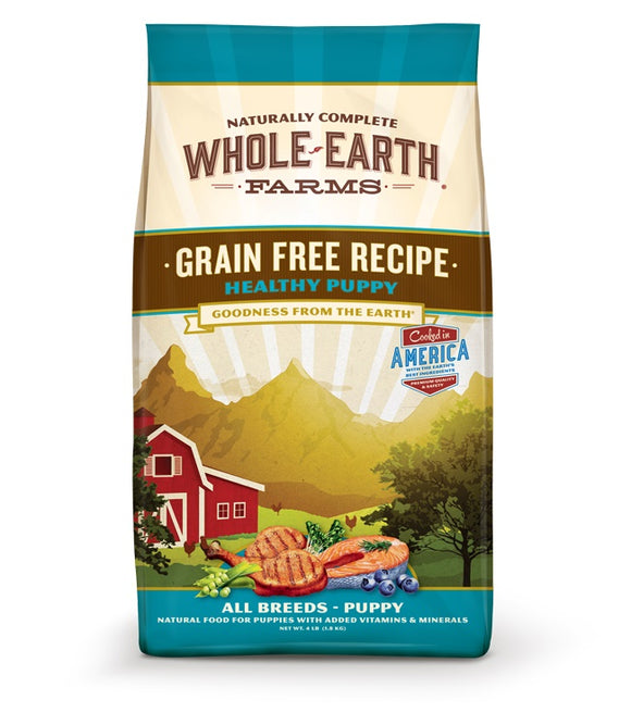 Whole Earth Farms Goodness from the Earth Grain Free Healthy Puppy Recipe Dog Food 4 Lbs