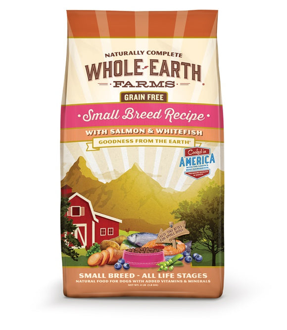 Whole Earth Farms Goodness from the Earth Grain Free Small Breed Recipe with Salmon & Whitefish Dog Food 12 Lbs