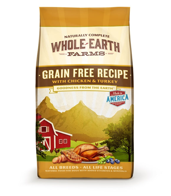 Whole Earth Farms Goodness from the Earth Grain Free Chicken & Turkey Recipe Dog Food 12 Lbs