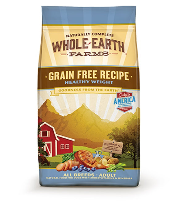 Whole Earth Farms Goodness from the Earth Grain Free Healthy Weight Recipe Dog Food 4 Lbs
