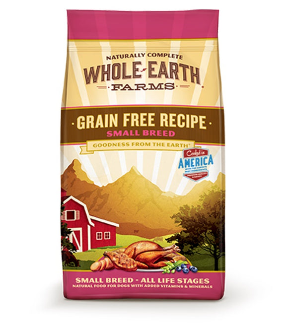 Whole Earth Farms Goodness from the Earth Grain Free Recipe Small Breed Dog Food 12 Lbs