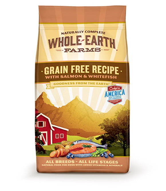 Whole Earth Farms Goodness from the Earth Grain Free Salmon & Whitefish Recipe Dog Food 12 Lbs