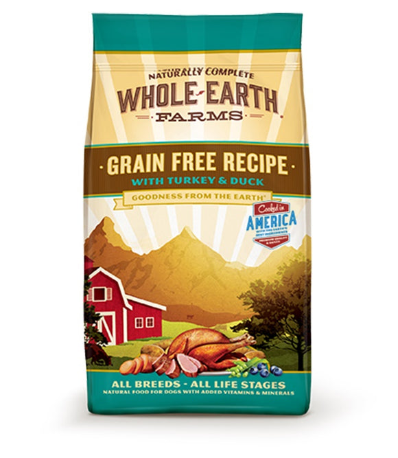 Whole Earth Farms Goodness from the Earth Grain Free Turkey & Duck Recipe Dog Food 12 Lbs