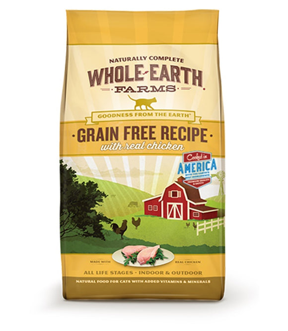 Whole Earth Farms Goodness from the Earth Grain Free Real Chicken Recipe Cat Food 5 Lbs