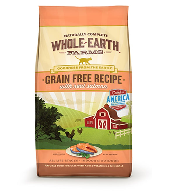 Whole Earth Farms Goodness from the Earth Grain Free Real Salmon Recipe Cat Food 10 Lbs