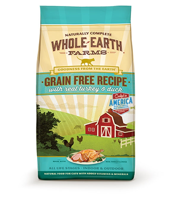 Whole Earth Farms Goodness from the Earth Grain Free Real Turkey & Duck Recipe Cat Food 10 Lbs