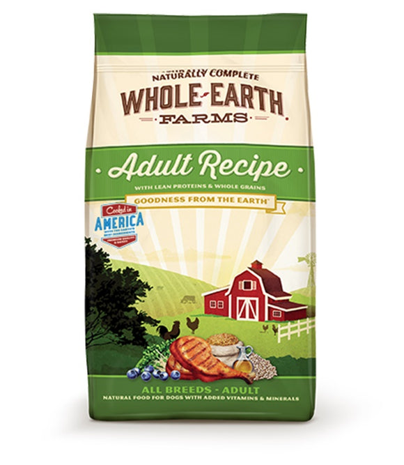 Whole Earth Farms Goodness from the Earth Grain Free Adult Recipe Dog Food 25 Lbs