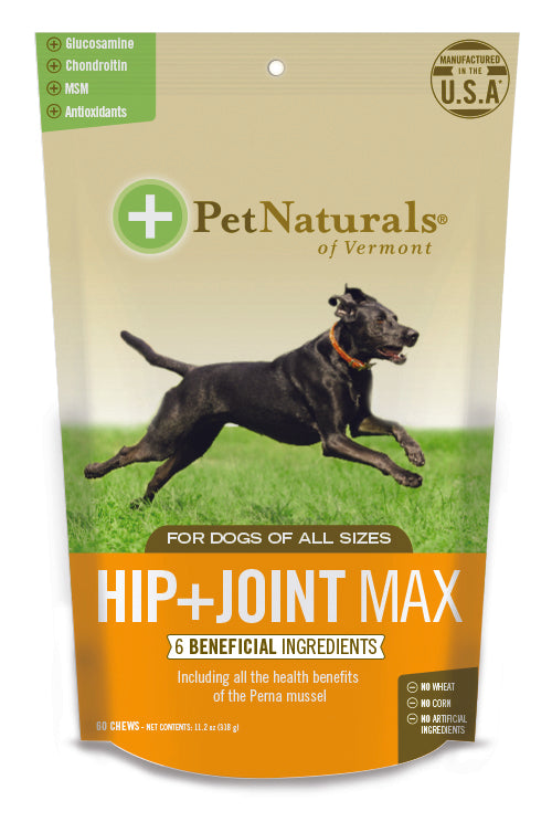 Pet Naturals of Vermont Hip + Joint Pro Dog Supplement 60 Count