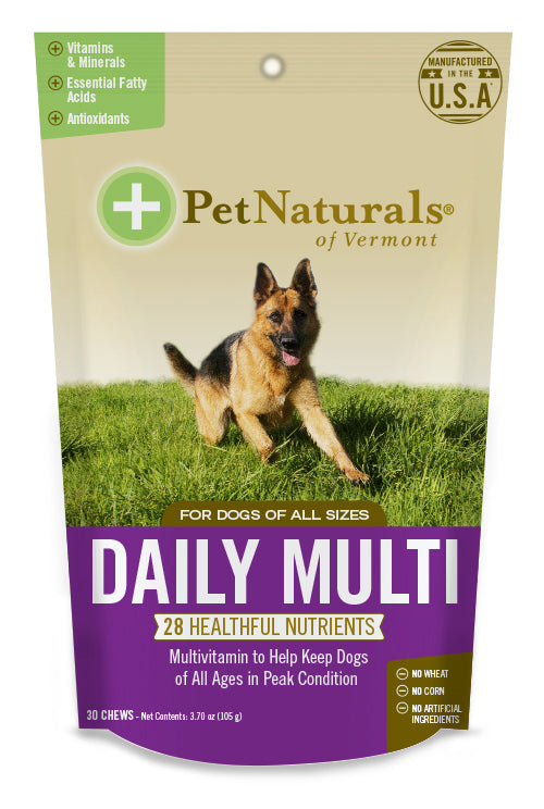 Pet Naturals of Vermont Daily Multivitamin for Dog 30 Count