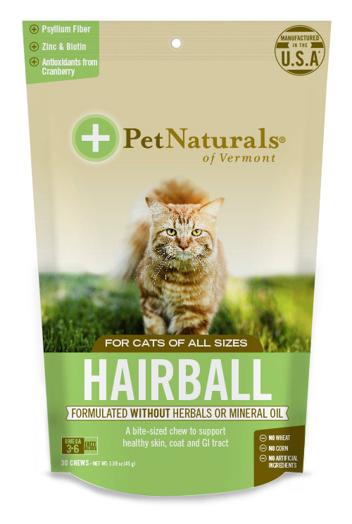 Pet Naturals of Vermont Hairball Cat Chews 30 Count