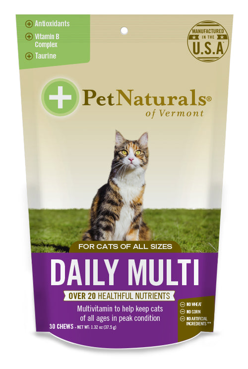 Pet Naturals of Vermont Daily Multivitamin for Cat 30 Count