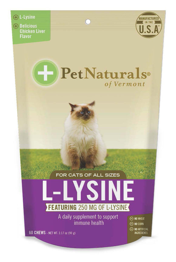 Pet Naturals of Vermont L-Lysine Cat Supplement 60 Count