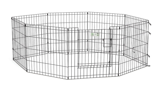 LifeStages Exercise Pen with Full MAXLock Door for Dog Black Color 24 Inch