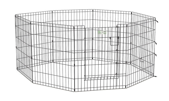 LifeStages Exercise Pen with Full MAXLock Door for Dog Black Color 30 Inch