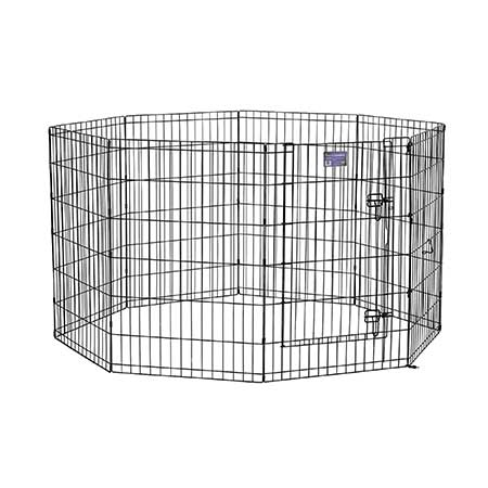 LifeStages Black Exercise Pen wih Full MAXLock Door for Dog 36 Inch