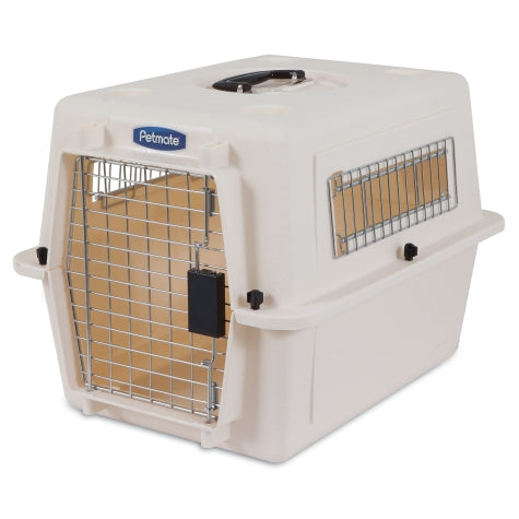 Petmate Ultra Vari Kennel Bleached Linen Color Up to 15 Lbs Dogs