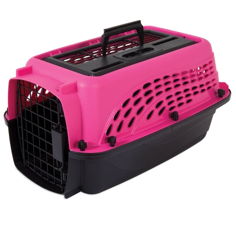 Petmate 2 Door Top Load Kennel Hot Pink/Black Color Up to 10 Lbs Dogs