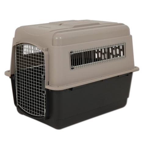Petmate Ultra Vari Kennel Taupe/Black Color 70-90 Lbs