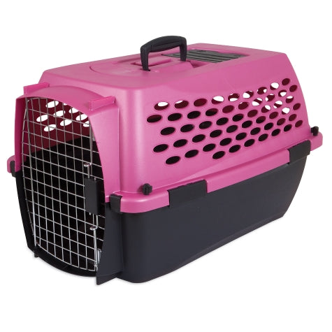 Petmate Fashion Vari Kennel Pearl Raspberry/Black Color 10-20 Lbs