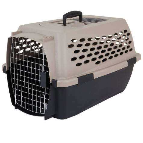 Petmate Vari Kennel Taupe/Black Color 10-20 Lbs