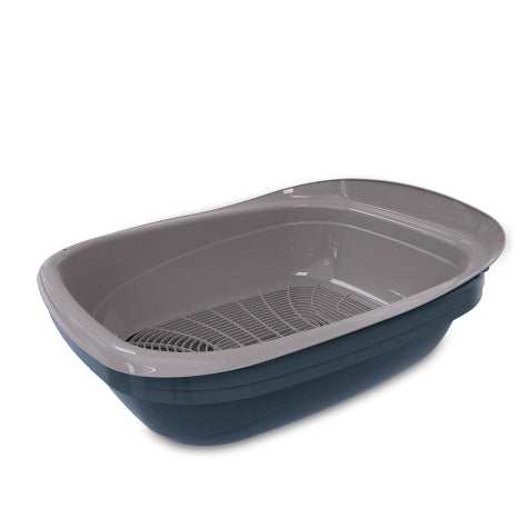 Petmate Simple Sifting Litter Pan Blue/Gray Color One Size