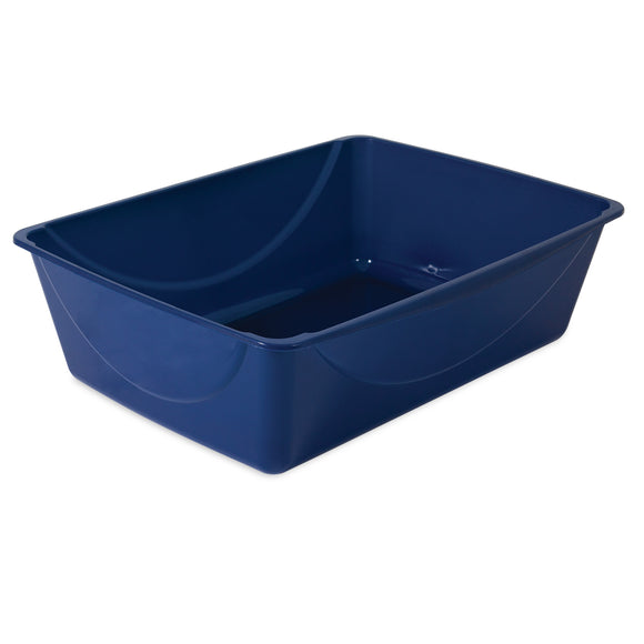 Petmate Basic Litter Pan For Cat Sapphire Blue Color Large
