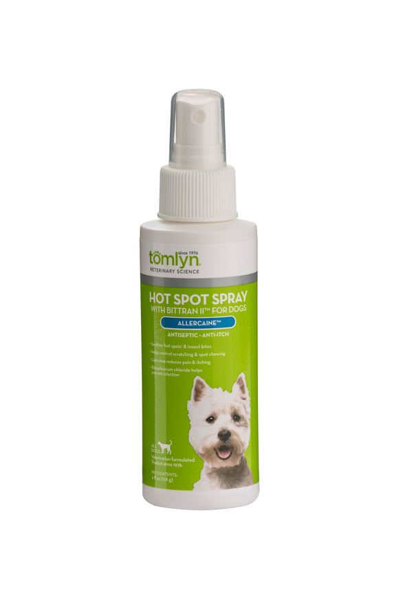 Tomlyn Allercaine Hot Spot Spray for Dog 4 Oz
