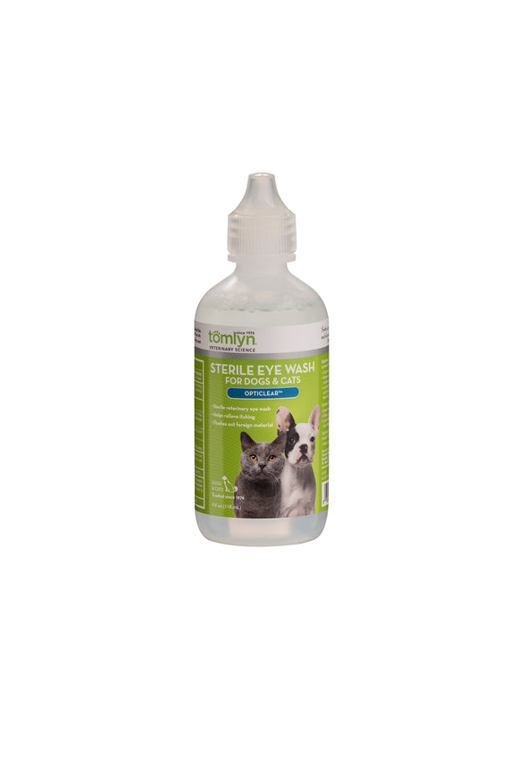 Tomlyn Opticlear  Sterile Eye Wash for Dog & Cat 4 Oz
