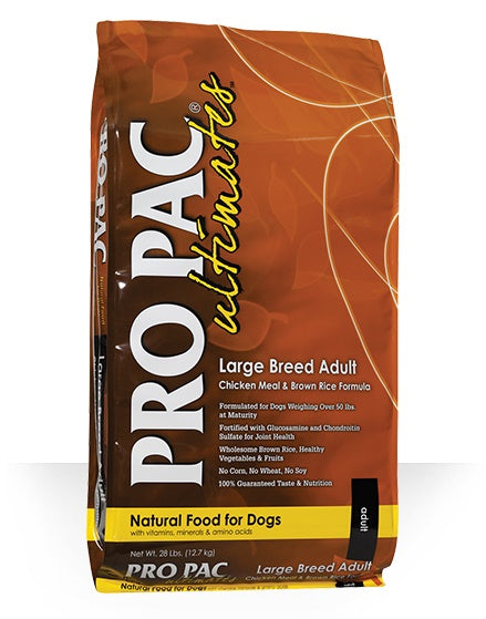 PRO PAC Ultimates Large Breed Adult Chicken & Brown Rice Formula Dog Food 28 Lbs