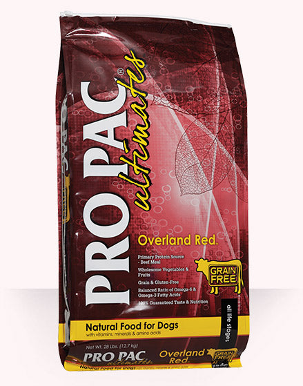 PRO PAC Ultimates Overland Red Dog Food 28 Lbs