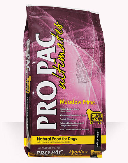 PRO PAC Ultimates Meadow Prime Dog Food 28 Lbs