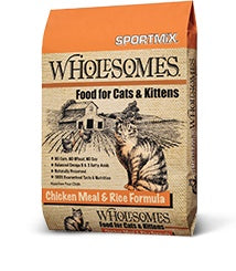 Sportmix Wholesomes Chicken Meal & Rice Formula Cat Food 15 Lbs