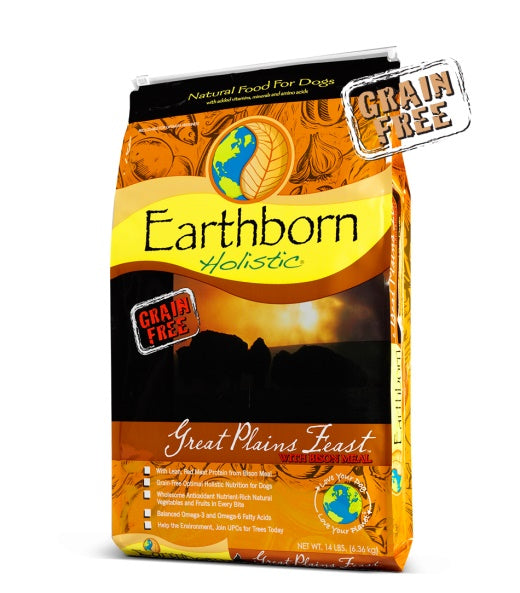 Earthborn Holistic Grain Free Great Plains Feast with Bison Meal Dog Food 28 Lbs