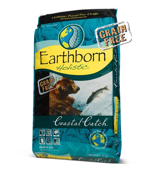 Earthborn Holistic Grain Free Coastal Catch Dog Food 28 Lbs