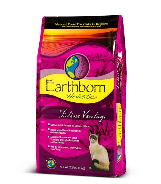 Earthborn Holistic Feline Vantage Cat Food 14 Lbs